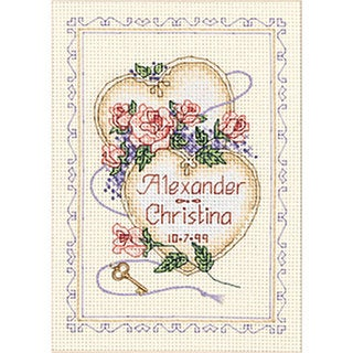 United Hearts Wedding Counted Cross Stitch Kit