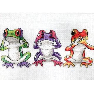 Jiffy Treefrog Trio Mini Counted Cross Stitch Kit