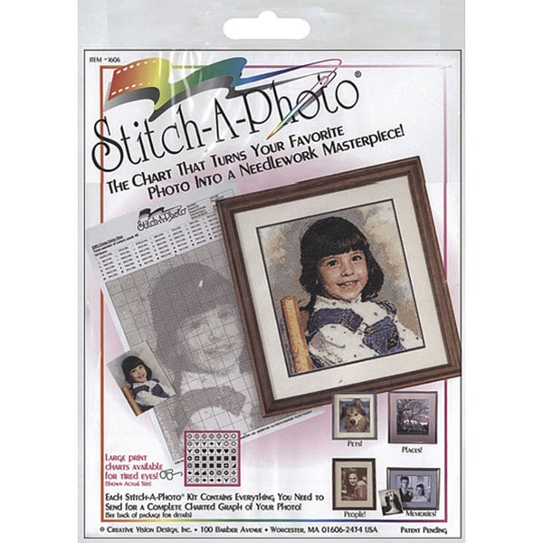 Stitch-A-Photo Cross Stitch Mail-in Chart Kit