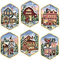 Holiday Village Ornaments Counted Cross Stitch Kit (Set of 6)