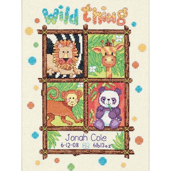 Baby Hugs Wild Thing Birth Record Cross Stitch Kit