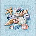 Shells on Blue Counted Cross Stitch Kit