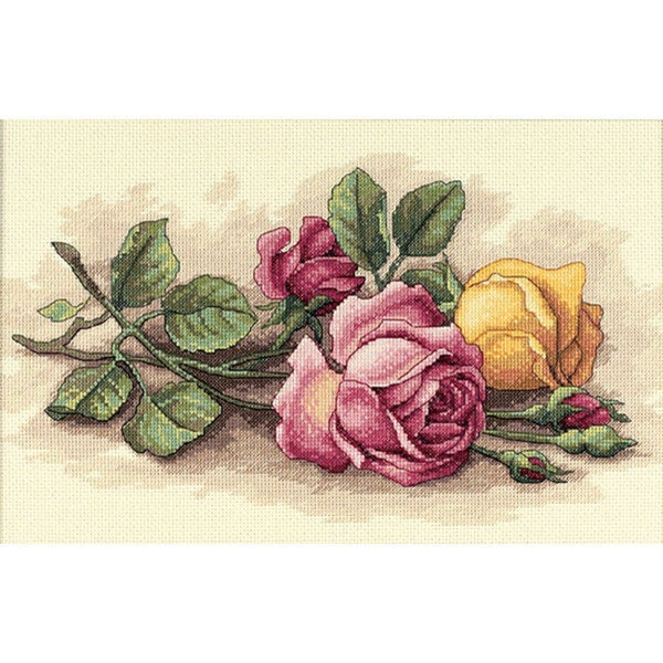 Rose Cuttings Counted Cross Stitch Kit 4027419