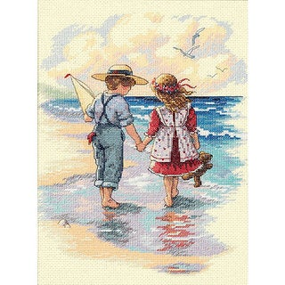 Holding Hands Counted Cross Stitch Kit