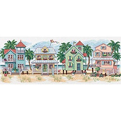 Seaside Cottages Counted Cross Stitch Kit
