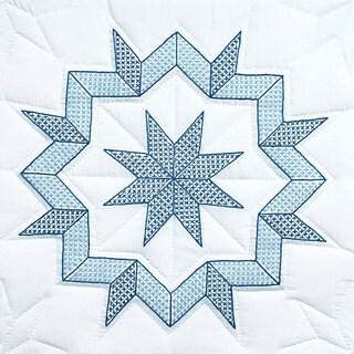 Stamped White Kaleidoscope Quilt Blocks (Set of 6)