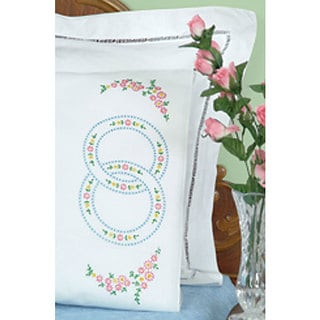 Wedding Rings Stamped Cotton/Polyester Pillowcases (Set of 2)