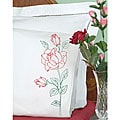 Long Stemmed Rose Stamped Pillowcases (Set of 2)