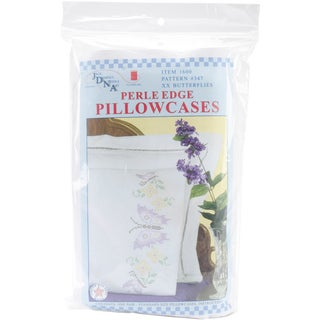 Butterfly Stamped Perle Edge Pillowcases (Set of 2)