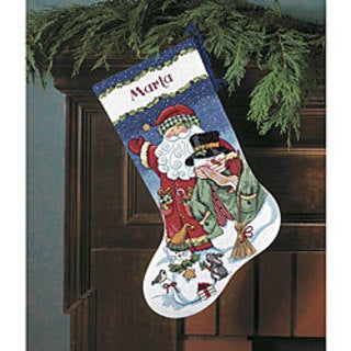 Santa and Snowman Stocking Counted Cross Stitch Kit
