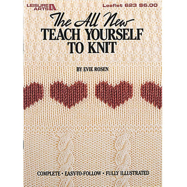 Leisure Arts 'Teach Yourself to Knit' Leaflet Book