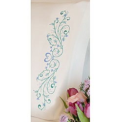 Stamped Embroidery Filigree Scroll Pillowcases (Set of 2)