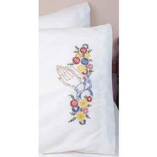 'Praying Hands' Pillowcase Embroidery Set (Set of 2)