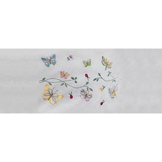 'Butterflies in Flight' Embroidery Pillowcase (Set of 2)