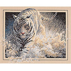 'White Lightning' Tiger Counted Cross Stitch Kit