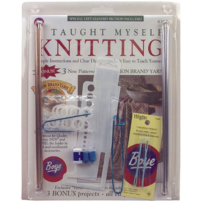 Knitting Kit For Beginners Singapore : Boye i taught myself knitting beginner s kit overstock