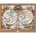 Olde World Map Counted Cross Stitch Kit