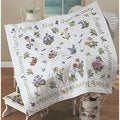 Donna Dewberry 'Year Of Flowers' Stamped Cross Stitch Quilt Top Kit