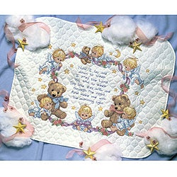 Nighttime Prayer Quilt Stamped Cross Stitch Kit
