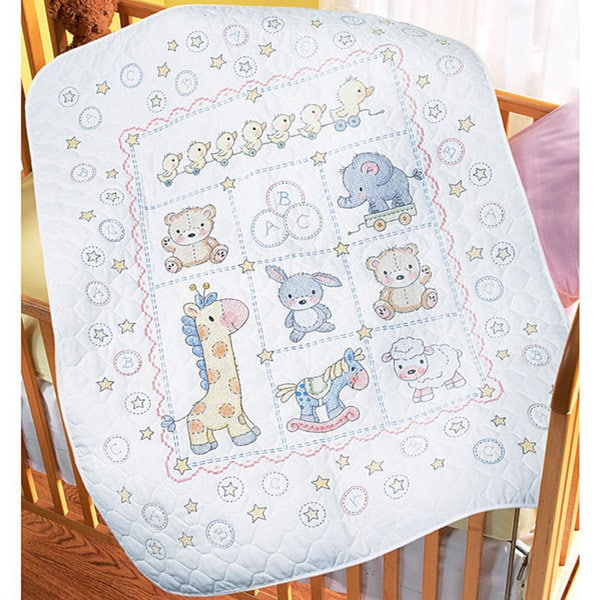 'Lullaby Friends' Cross Stitch Crib Cover Kit
