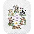 Baby Hugs Baby Animals Quilt Stamped Cross Stitch Kit