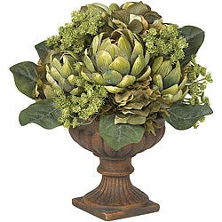 Silk Artichoke Flower Centerpiece Arrangement