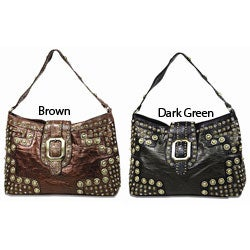 B.E. Signature Studded Leatherette Shoulder Bag