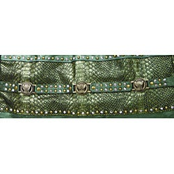 B.E. Signature Studded Shoulder Bag