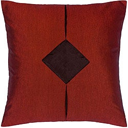 Burgundy and Black Thai Silk Cushion Cover