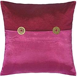 Fuchsia Mulberry Thai Silk Cushion Cover