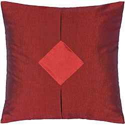 Red and Crimson Thai Silk Cushion Cover