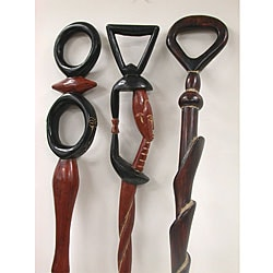 Handmade Sese Walking Stick (Ghana)