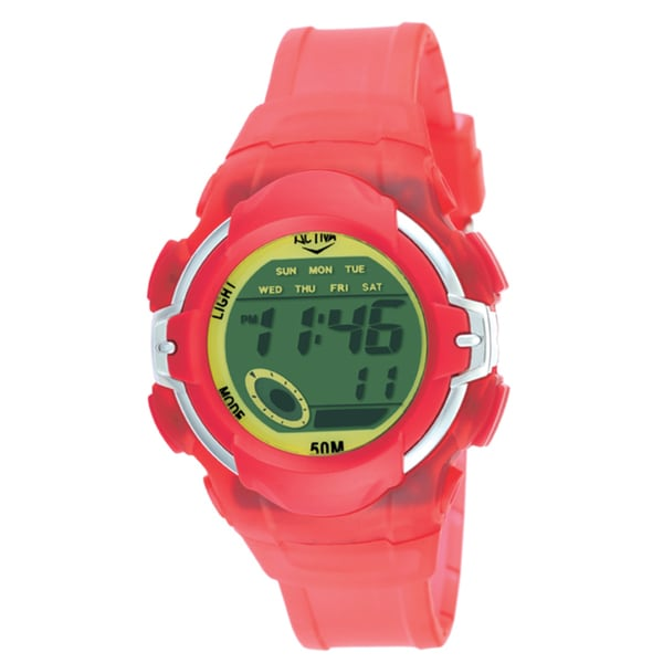 Activa by Invicta Midsize Unisex Digital Red Watch