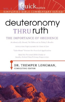 Deuteronomy Thru Ruth: the Importance of Obedience (Paperback)