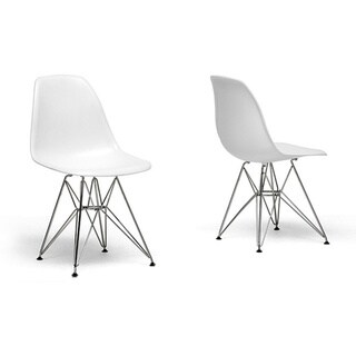 Ronnie Wire Base White Chairs (Set of 2)