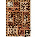 Hand-made Mandara Printed Jute Transitional Rug (9' x 13')