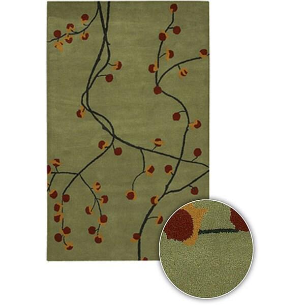 Hand-tufted Contemporary Ciara Collection Rug (5' x 7'6)