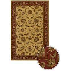 Hand-tufted Traditional Mandara Collection Rug (5'