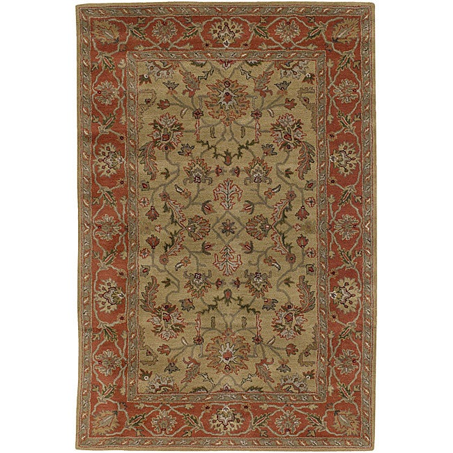 Hand-tufted Traditional Mandara Rug (7'9 Round)