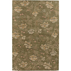 Hand-Tufted Mandara Green New Zealand Wool Area Rug (5' x 7'6