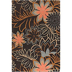 "Hand-Tufted Contemporary Mandara Wool Area Rug (5' x 7'6"")"