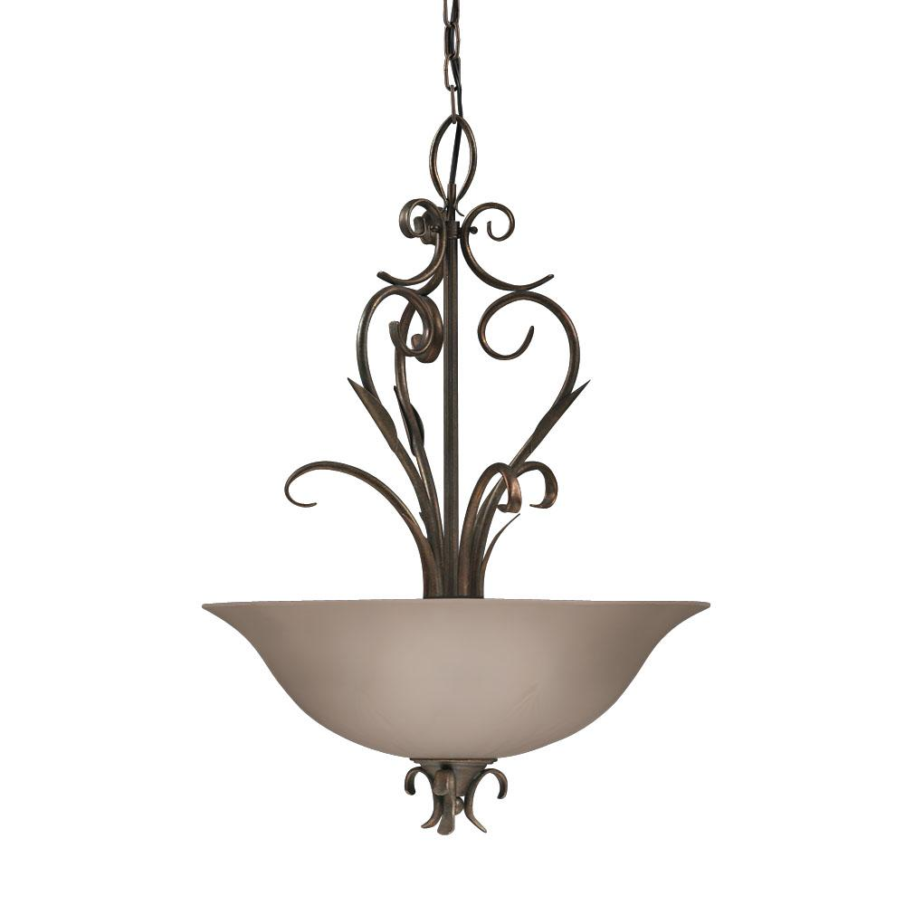 Legacy Bronze Satin Glass Pendant