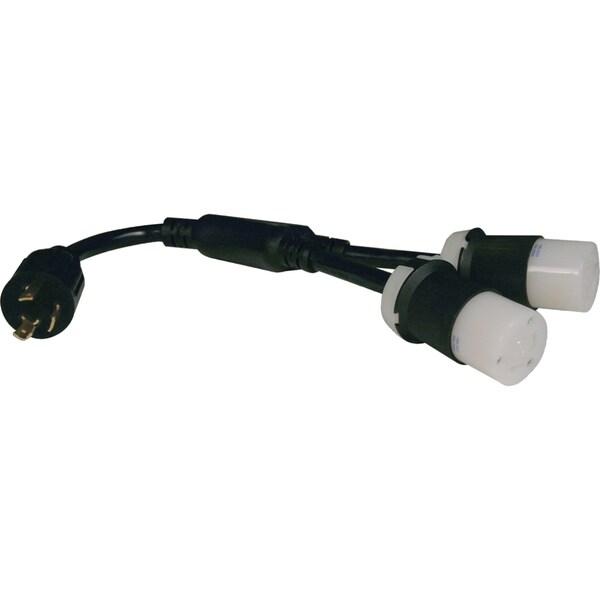 Tripp Lite Heavy-Duty Power Extension Cord Y Splitter Cable