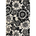 "Hand-Tufted Floral Contemporary Mandara Rug (5' x 7' 6"")"