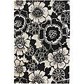 Hand-Tufted Contemporary Mandara Floral Rug (7'9