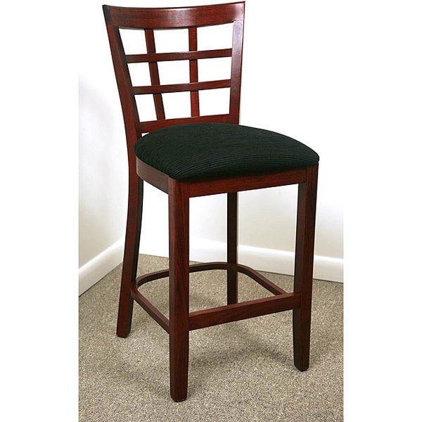 Lattice Back Mahogany Counter Stool 11445935 Overstock