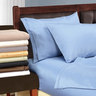 Superior Egyptian Cotton 1500 Thread Count Solid Deep Pocket Bed Sheet Set