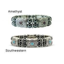 Magnetic Hematite Southwestern Bracelet