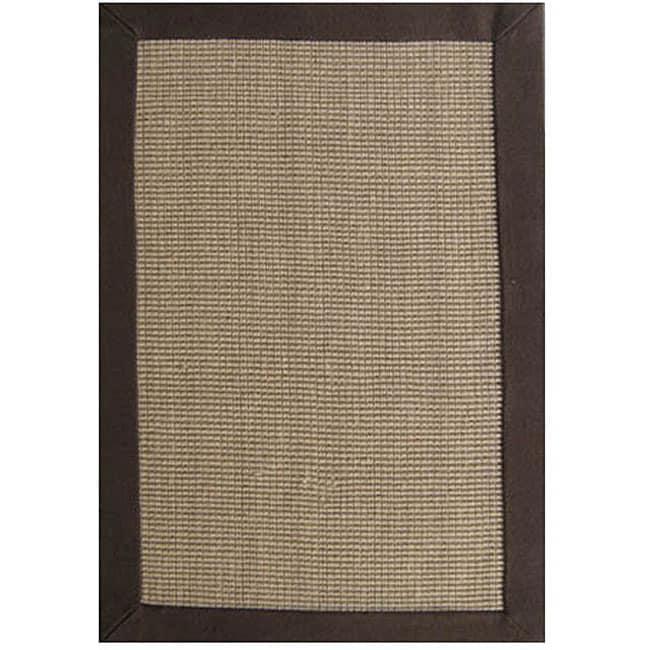 Hand-woven Sisal Choco Brown Jute Rug (5' x 8')