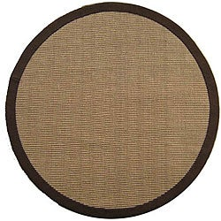 Hand-woven Sisal Choco Brown Jute Rug (8' Round)